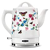 Bella 14747-SN Electric Portable Cordless Ceramic Hot Water Kettle Heater Warmer Maker Teapot Pot for Coffee and Tea, 1.5 Liter or 6 Cup