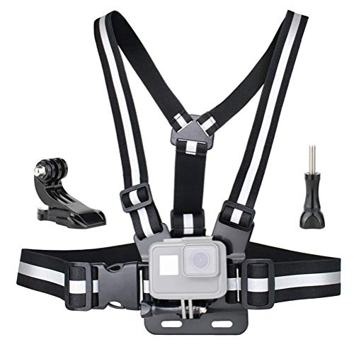 YIJIABINGRU Reflective Adjustable Chest Strap Mount Elastic Harness Strap With J-hook For GoPro Hero 8/7/6/5/4/3 For DJI Osmo Action Camera Accessories