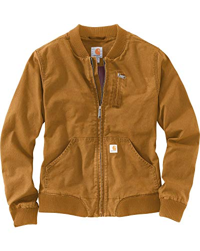 Womens Crawford Brown Bomber Jacket
