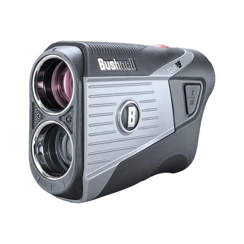 Bushnell Tour V5 Golf Laser Rangefinder | Pinseeker | Visual JOLT | BITE Magnetic Mount | Next Level Clarity and Brightness | Non-Slope Model | 201901