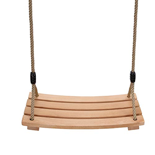 PELLOR Beech Wood Tree Swing Seat Hanging Swing Seat for Adult Kids Children Swing Chair Indoor and Outdoor Garden Play