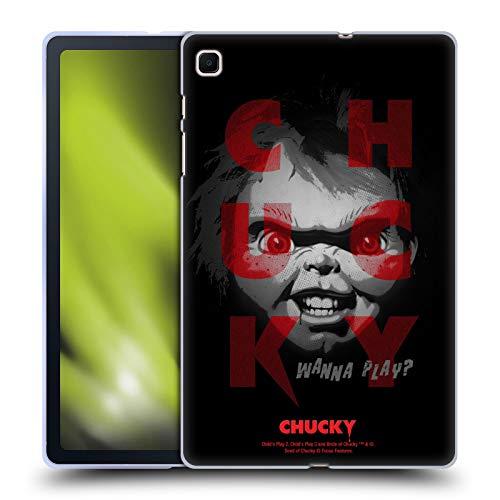 Head Case Designs Oficial Child'S Play Quiero Jugar 3 Arte Clave Carcasa de Gel de Silicona Compatible con Samsung Galaxy Tab S6 Lite