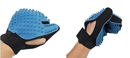 Pet Brush Glove | Pet Grooming Glove Ideal for Cats, Dogs, Horses and Rabbits | 2-IN-1 Hair Remover And Pet Massage Glove