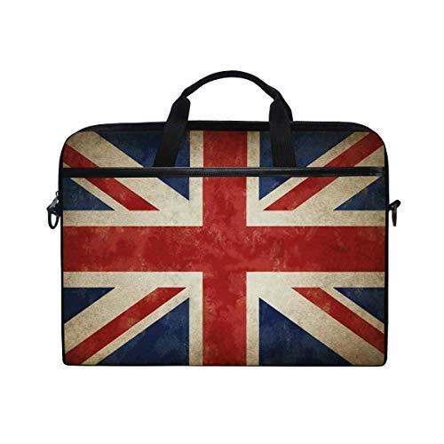Laptop Case Vintage Uk Flag Union Jack Laptop Shoulder Messenger Bag Case Sleeve Crossbody Briefcase With Strap Handle For Notebook Computer