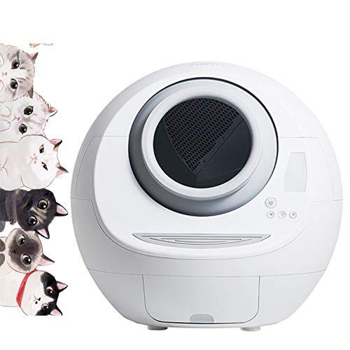 WDSZXH Elektronisches Smart Cat Toilette Mit Deodorant Für Katzengewicht Und Reinigung, Elektrische Katzentoilette Selbstreinigend Für Faule Leute Behalte Eine Katze,