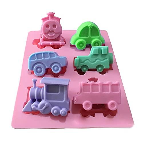 X-Haibei Choo Choo Train Car Soap Silicone Mold Crayon Chocolate Fimo Making Kids Favor 2oz per Cell