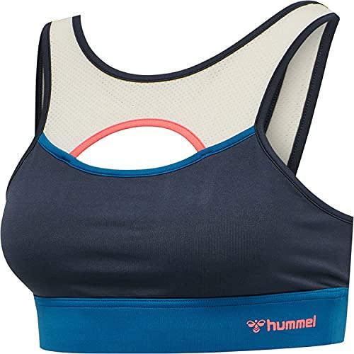 Hummel Damen Sport BH SHARNI Sports Bra 210386 Blue Nights M