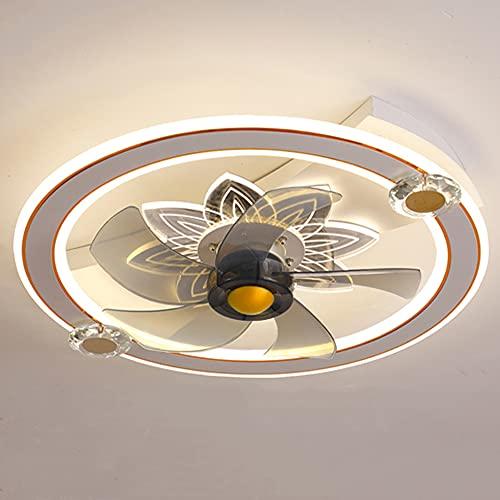 Ventilador Techo con Luz, Silencioso Lámpara LED Ventilador Plafon Control Remoto con Mando A Luces Regulable, Creative Juvenil Habitacion Dormitorio Sala De Estar Lámpara De Techo,6