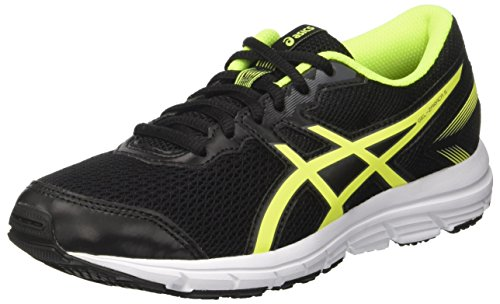 Asics Gel-Zaraca 5 GS, Zapatillas de Running Unisex Niños, Negro (Black/Safety Yellow/White), 39.5 EU
