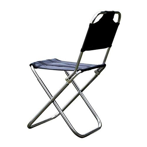 Silla plegable Silla de playa de peso ligero al aire libre plegable portable de la pesca silla de camping for ir de excursión de picnic Barbacoa vocación Casual Sillas de jardín ( Color : Purple )