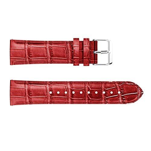 FAAGFC Correa de repuesto de piel para reloj HUAWEI WATCH GT 2, 42 mm, 46 mm, para Samsung Galaxy Watch 42 mm, 46 mm (color de la correa: rojo, ancho de la correa: para Galaxy 42 mm)