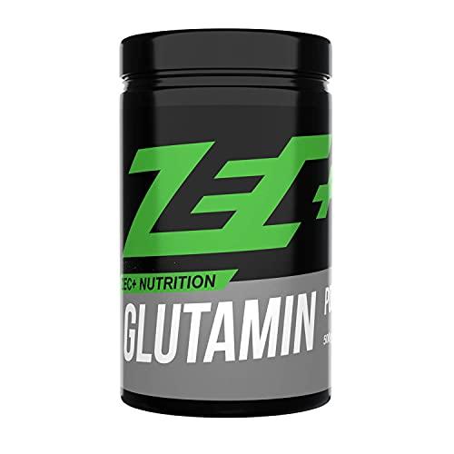 ZEC+ Glutamin Pulver – 500g, reines L-Glutamin Pulver, hochdosiert & geschmacksneutral