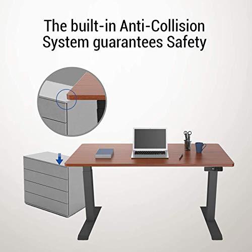 SANODESK Basic Line - elektrisch stufenlos höhenverstellbarer Schreibtisch mit Kollisionschutz, Memory-Steuerung und Softstart/Stop Funktion