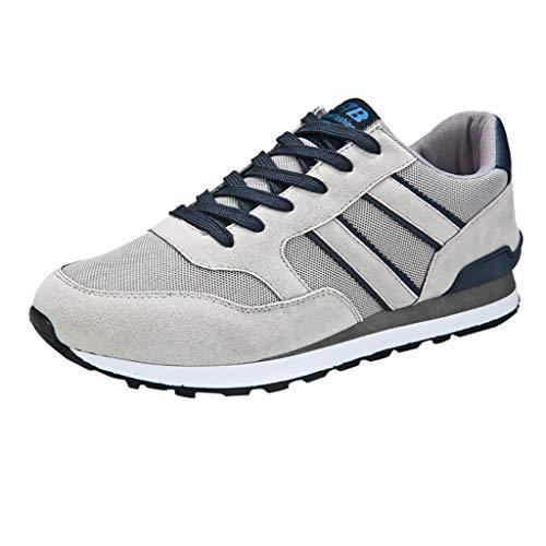 EUZeo Herren Lässige Core Sneaker Leichtgewicht Freizeitschuhe Männer Atmungsaktiv Schnürer Sneakers Foundation Laufschuhe Turnschuhe Sportschuhe Walkingschuhe Leichtgewicht Running Fitness
