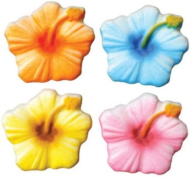 Surprise price Hibiscus Sugar Decorations Cookie Cupcake Easy-to-use Cake 12 Flowers Easter
