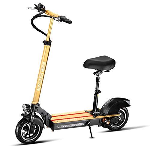 ZLYJ Patinete Eléctrico Adultos Scooter Electrico con Asiento Extraíble,500W Motor 40km/h, hasta...