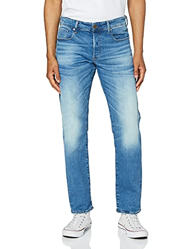 G-STAR RAW 3301 Straight Jeans, Blu (Authentic Faded Blue B631-A817), 40W / 32L Uomo