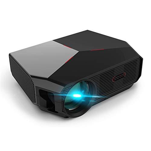 QLPP Mini proyector, 1080P y Pantalla 200inch soportados, 3800 Lux Proyector de película portátil con 50.000 Horas de Vida de la lámpara LED, Compatible con HDMI, VGA, USB
