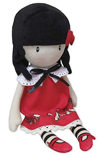 Gorjuss M-07-G - Bambola di stoffa in display Time To Fly, 30 cm