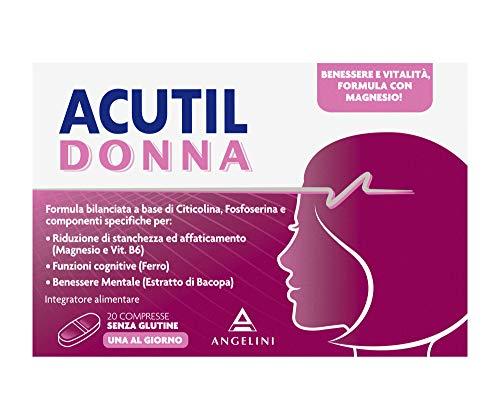Acutil Donna, Integratore Multivitaminico Alimentare per Donna con Ferro, Magnesio e Vitamina B6, Per il Benessere e la Vitalit
