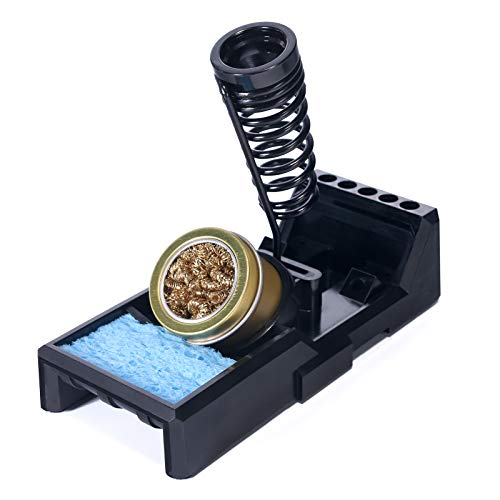 YIHUA X-4 Premium Soldering Iron Holder with Brass Wool, Cleaning Sponge and Solder Tip Slots