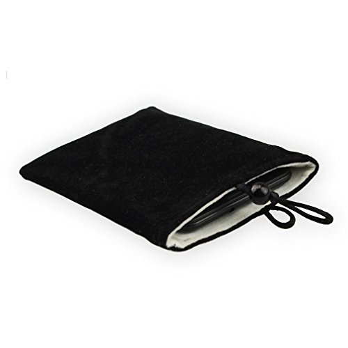 Sosam 2 Pack Microfiber Sleeve Pouch Cover Case Pouch For iphone 5 5S /iphone 6 6plus Cigarette Lighter Small Portable Electronics Device Mini Wallet Purse Hand Bag Cloth Coin Cell Phone Bag Mobile Pouch (Black)