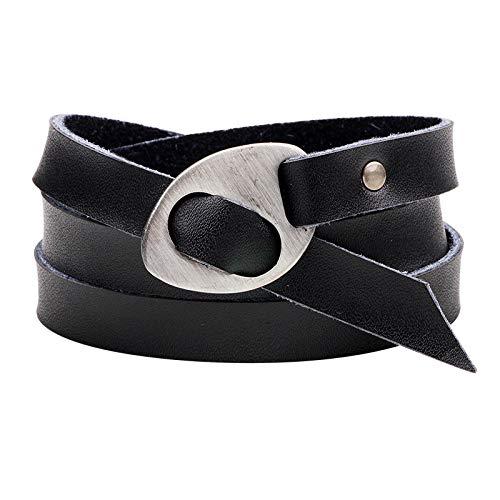 Lederband-Doppeltes Leder - Tourarmband - Einstellbare Größe und angenehm zu tragen.