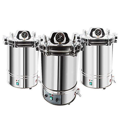 hzexun Esterilizador de calor Autoclave esterilizador de vapor de alta presión para equipos médicos dentales (Zeiteinstellung,24L)