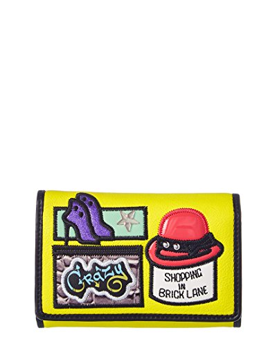 Portafoglio piccolo Braccialini Cartoline Brick Lane