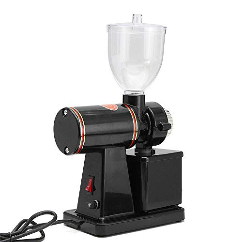 Commercial Coffee Grinder Electric Automatic Burr Mill Espresso Bean Home Grind With Removable Transparent Funnel For Grind Coffee Beans, Mung Beans, Soybeans And Other Coarse Grains Usa Stock