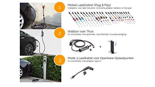 Juice Booster 2 Mobile Ladestation für Elektroauto 22kW / 11kW Wallbox | German Traveller Set | CEE32, CEE16, Camping, Schuko mit Temperaturüberwachung - 3