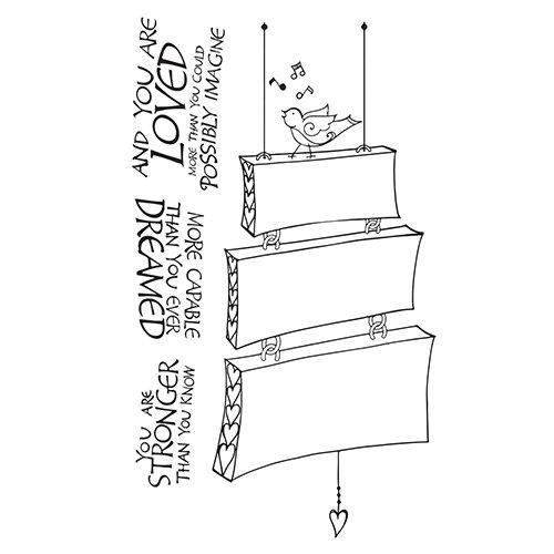 Spellbinders Singing Bird Bible Journaling Stamp Set