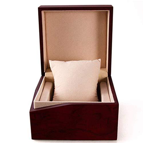 BWCGA Grano de Madera Caja de Reloj - Premium Glossy/Brazalete de la Caja de Regalo Almohada Gran Fiesta del Regalo de cumpleaños