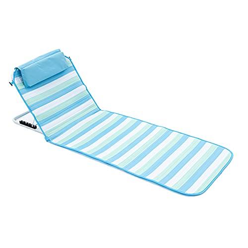 YI'HUI Silla para Playa Portátil Al Aire Libre,Plegable, Resistente Al Agua, con Respaldo Ajustable, para Descansar, Pescar, Reclinable, para Acampar y Playa,A