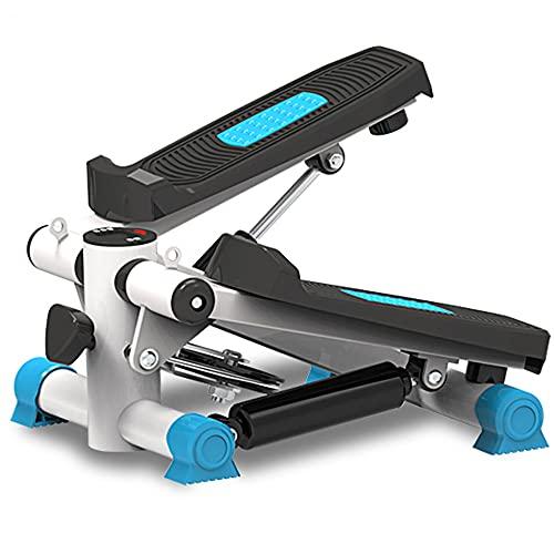LJFZDB Stepper Fitness Paso a Paso con Bandas de Resistencia Tirar de la Cuerda Entrenador de Pasos para piernas de Entrenamiento Monitor LCD Equipo multifunción para el hogar(Color:Azul)