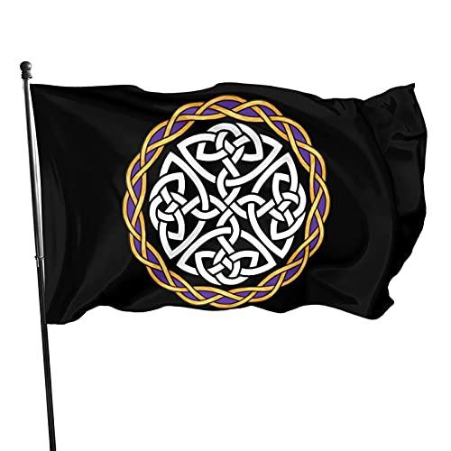 Yilimi Hui Irish Shield Warrior Celtic Cross Knot Double Sided Printing 3x5 Foot Flag Outdoor Double Sided 3x5 Ft Flag Best Military Flag is Not Damaged Durable