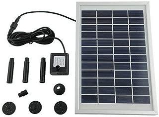MVPOWER Bomba de agua solar para fuente piscina jardín estanque cuadrado (500L) H 5W 28 * 17.6 * 1.7cm Negro