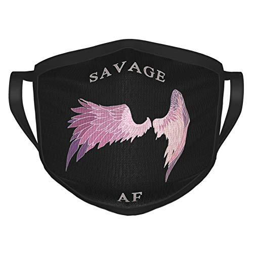 Savage Af Windproof Mouth Cover Mask Breathable Mask for Men's & Women Black