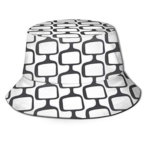 Mid Century Modular Tv Screens Before Colour Unisex Fashion Print Bucket Hat Summer Fisherman Cap Packable Outdoor Sun Hat Hiking, Beach, Sports