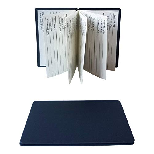 Magnetic Wallet Password Book - Credit Card Size Pocket Password Book - Password Keeper Book Small, Keep ID and Password Info Handy at All Times - Set of 2