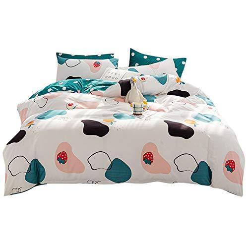 Sticker Superb. Mädchen Junge Karikatur Galaxis Star Wolke Liebe Blau Bettbezug mit Reißverschluss, Tier Taube Zebra Hase Garten Blumen Bettwäsche Set 2/3 Teilig Polyester (Weiß, 200 x 200 cm)