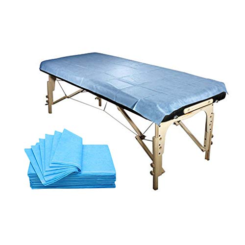 20 pcs Disposable Stretcher Sheet, Hygeine Clean, Fitted Massage Table Sheets - Bed Sheets Perfect for Doctors' Offices, Spas, Blue (31