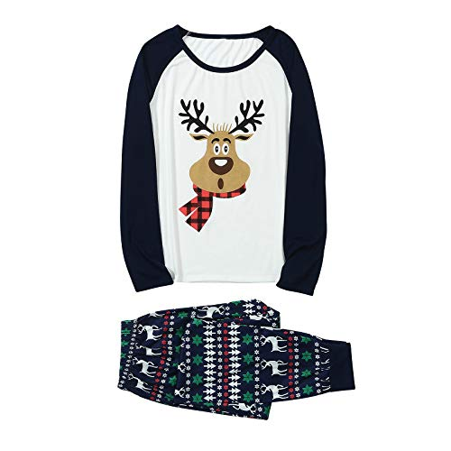 IFOUNDYOU Damen Weihnachtsbaby Langarm Deer Print Strampler Overall Family Matching...