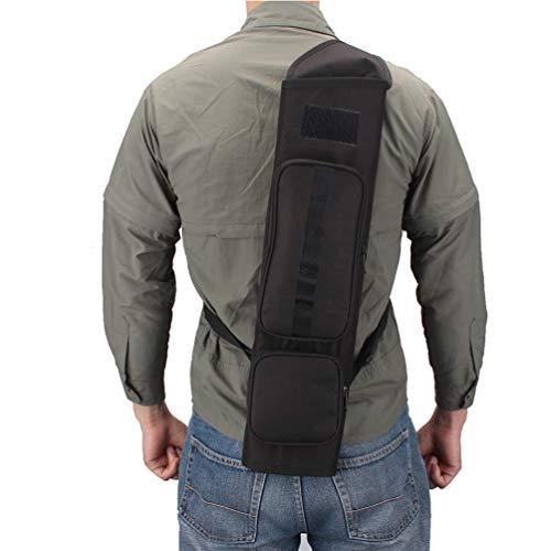 XTACER Lightweight Quiver Hunting Training Camo Archery Arrow Quiver Holder Bow Belt Shoulder Bag Pouch (Black - Upgrade)