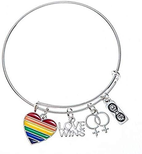 Infinity Collection Love Wins Bracelet, LGBT Bracelet- Lesbian Pride Jewelry, Rainbow Pride Bracelet & Perfect Lesbian Gifts