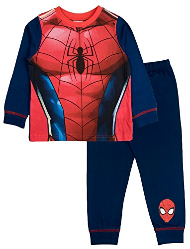 Kinderen Jongens Fancy Dress Up Spelen Kostuums/Pyjama Nachtkleding PJ's Pjs Set Buzz Lightyear Superman Spiderman Batman Party Size UK 1-8 Jaar