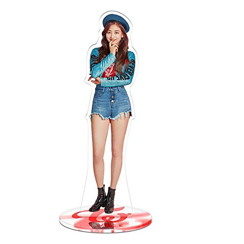 Kpop Twice Acrylic Toy Double-Side Photo Desk Stand Desk Decoration Fans Gift (jihyo 1)