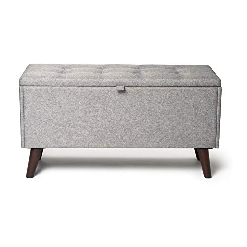 Home Treats Large Ottoman Storage Chest Toy Box | Footstool Seat and Storage Bench for Bedroom Living Room (Cali)