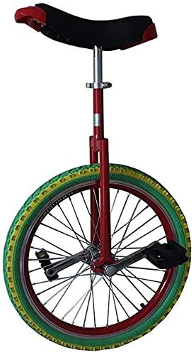 Fahrräder Einrad 16/18/20 Zoll Einrad, Single Walk Balance Bike, Geeignet Für Kinder Und Erwachsene, Höhenverstellbar, Best Birding Birthday Unicycle (Size : 20 inch)