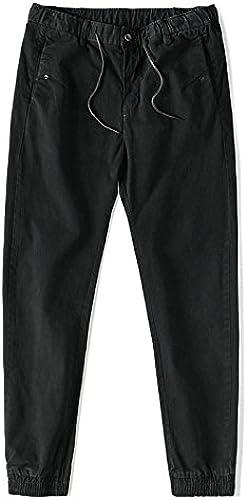 Dufjodi l'hiver, Le Japonais rétro Jeunes Hommes Pied Cheville Pantalons décontractés sacué Pantalon Les Pantalons,noir,Trente - Trois